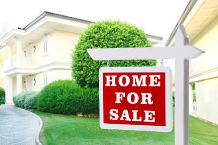 46118737 - real estate sign in front of new house for sale